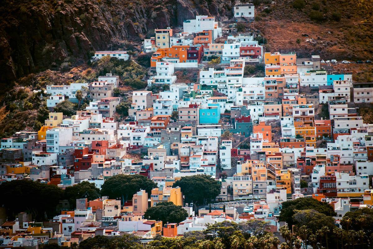 colorful houses of San Andres village near Playa de las Teresitas, Tenerife