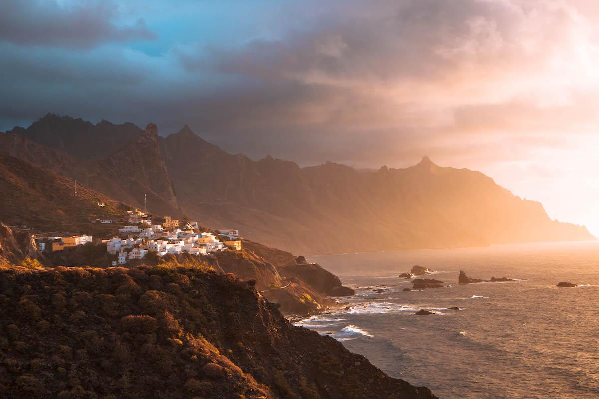 Sunset from Benijo Beach Tenerife
