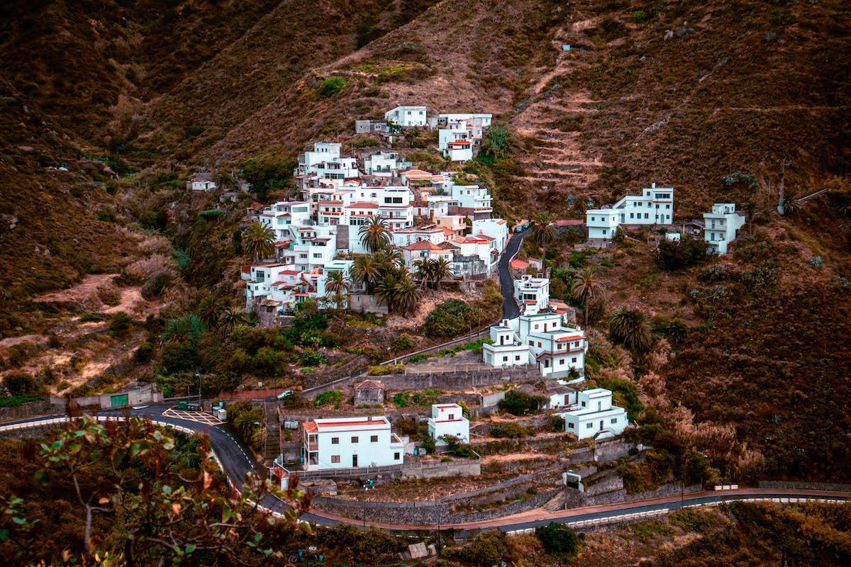 Taganana village in Anaga Rural Park, Tenerife