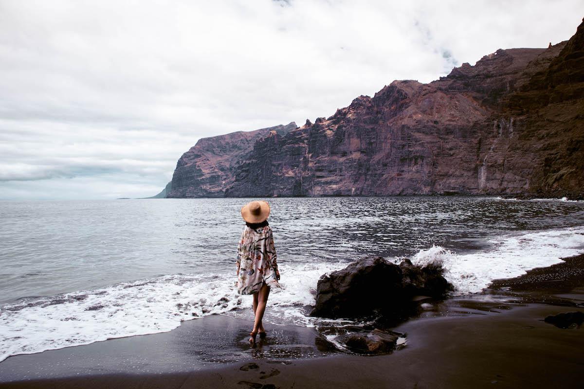 Los Guios Beach, Los Gigantes Beach Tenerife, Playa de los Gigantes Tenerife, black sand beach Tenerife, best beach in Tenerife